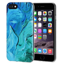 Load image into Gallery viewer, Protective Cover Soft Shockproof TPU Skin Case Abstract Blue Brushstroke for iPhone 6 Plus - Clear