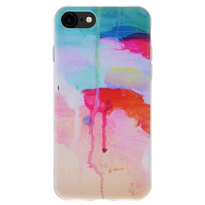 TPU Skin Case Abstract Watercolor Drip for iPhone 6+ 6s+ Plus