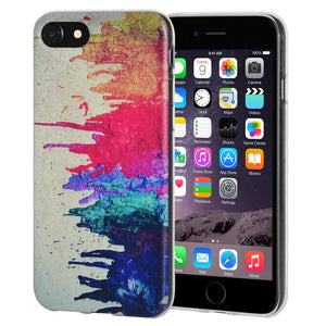 Protective Cover Soft Gel Shockproof TPU Skin Case Abstract Modern Art for iPhone 6 Plus - Clear