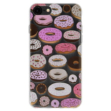 Load image into Gallery viewer, Ultra Thin Protective Cover Soft Gel Shockproof TPU Skin Case Donut Print for iPhone 6 Plus - Clear