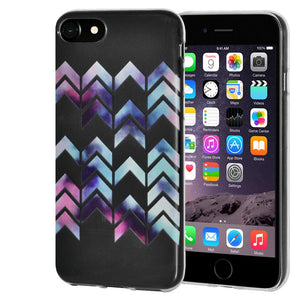 Ultra Thin Protective Cover Soft Gel Shockproof TPU Skin Case Arrow Print for iPhone 6 Plus - Clear