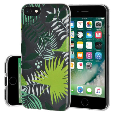 Ultra Thin Protective Cover Soft Gel Shockproof TPU Skin Case Botanical for iPhone 7 - Clear