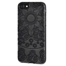 Load image into Gallery viewer, Protective Cover Soft Gel Shockproof TPU Skin Case Mandala Black Tattoo for iPhone 7 - Clear