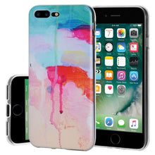 Load image into Gallery viewer, Protective Cover Soft Shockproof TPU Skin Case Abstract Watercolor Drip for iPhone 7 Plus - Clear
