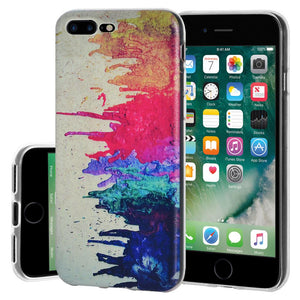 Protective Cover Soft Gel Shockproof TPU Skin Case Abstract Modern Art for iPhone 7 Plus - Clear