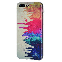 Load image into Gallery viewer, Protective Cover Soft Gel Shockproof TPU Skin Case Abstract Modern Art for iPhone 7 Plus - Clear