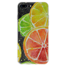Load image into Gallery viewer, Ultra Thin Protective Cover Soft Gel Shockproof TPU Skin Case Citrus Print for iPhone 7 Plus - Clear