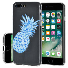 Load image into Gallery viewer, Ultra Thin Protective Cover Soft Shockproof TPU Skin Case Blue Pineapple for iPhone 7 Plus - Clear