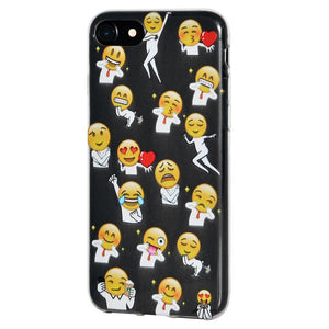 TPU Skin Case Different Emotions of Man for iPhone 7 8 SE 2020