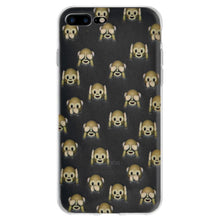 Load image into Gallery viewer, Protective Cover Soft Shockproof TPU Case See Hear Speak No Evil Monkeys for iPhone 7 Plus - Clear