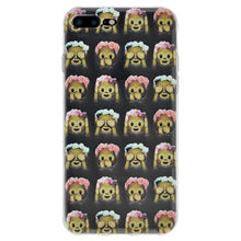 Load image into Gallery viewer, Protective Cover Soft Shockproof TPU Case See Speak Hear No Evil Monkeys for iPhone 7 Plus - Clear