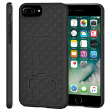 Load image into Gallery viewer, AMZER Snap On Hard Case Shockproof Cover With Kickstand for iPhone 7 Plus - Black