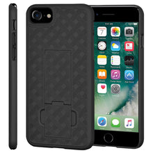 Load image into Gallery viewer, AMZER Snap On Hard Case Shockproof Cover With Kickstand for iPhone 7, iPhone SE 2020 - Black