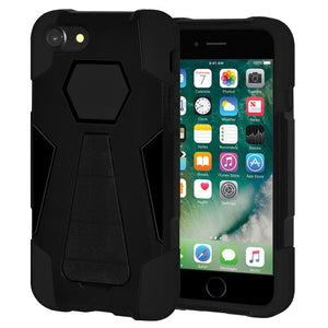 AMZER Dual Layer Shockproof Cover Hybrid KickStand Case for iPhone 7, iPhone SE 2020