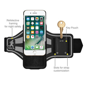 AMZER Jogging Gym Armband Workout Snap On Shellster Case For iPhone 7