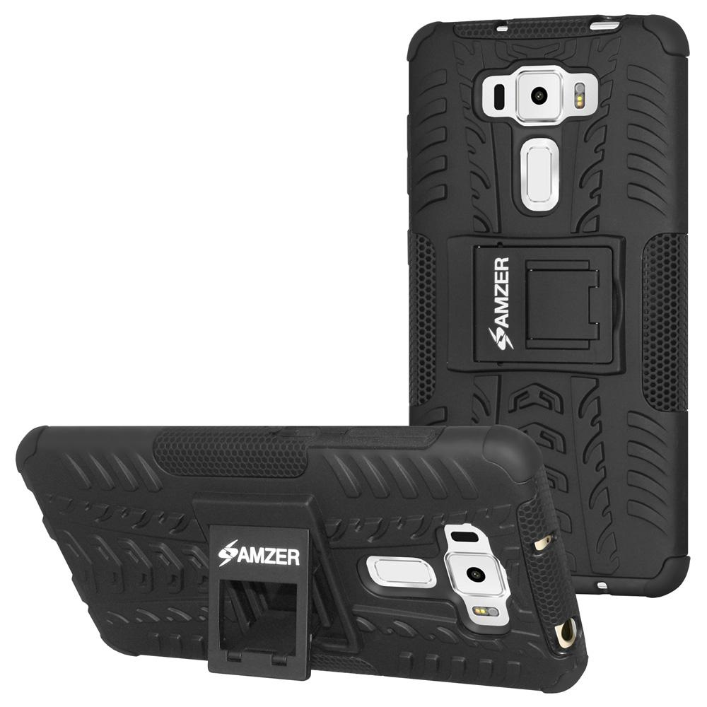 AMZER Warrior Hybrid Case for Asus ZenFone 3 5.5 Z012D - Black/Black