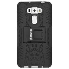 Load image into Gallery viewer, AMZER Warrior Hybrid Case for Asus ZenFone 3 5.5 Z012D - Black/Black