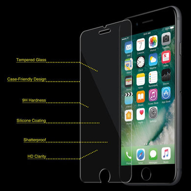 Anti-Fingerprint, Tempered Glass Screen Protector for iPhone 7+ 8+ Plus - Clear
