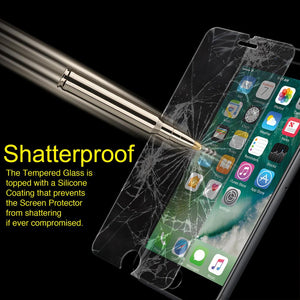 Anti Fingerprint Tempered Glass Screen Protector for iPhone 6+ 7+ 8+ Plus