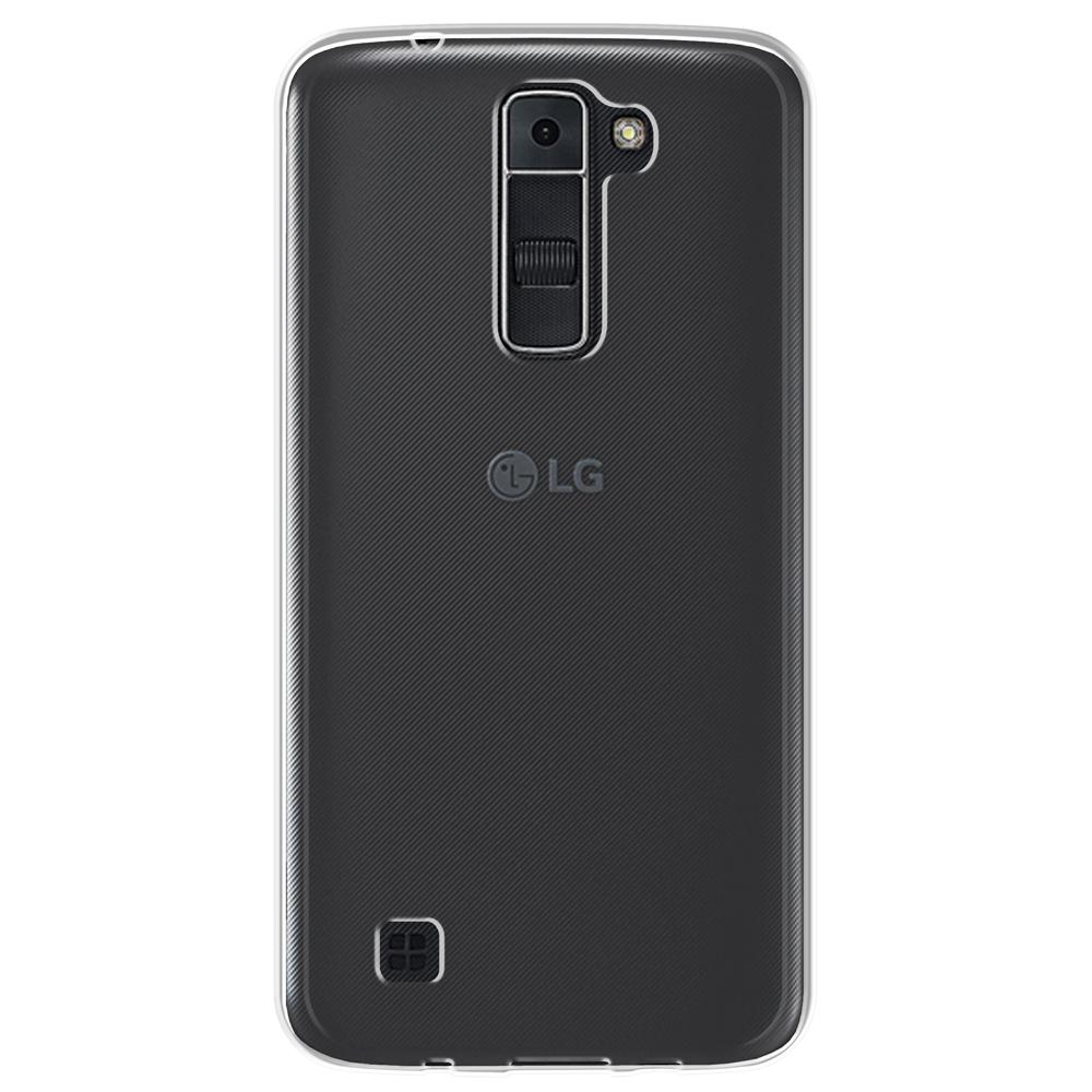 Ultra Slim Hard Transparent Fused TPU Shockproof Case for LG K7 - Clear/Clear
