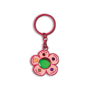 Mood Flower Cute Key Chain for Fashion Gift Bag Purse Car Keyring Cellphone Charm - Red