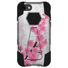 Load image into Gallery viewer, AMZER Dual Layer Designer Hybrid Case With Kickstand for iPhone 7, iPhone SE 2020 - Cherry Blossom Exotic Floral
