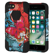 Load image into Gallery viewer, AMZER Dual Layer Shockproof Designer Hybrid KickStand Case for iPhone 7 - Butterfly Bliss