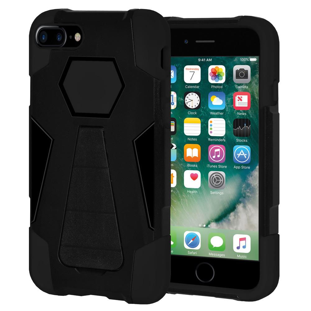 AMZER Dual Layer Shockproof Cover Hybrid KickStand Case for iPhone 7+ 8+ Plus