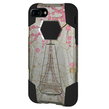Load image into Gallery viewer, AMZER Dual Layer Designer Hybrid Case With Kickstand for iPhone 7 Plus - Vintage Eiffel Tower Paris