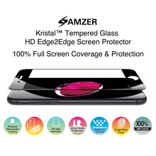 Load image into Gallery viewer, AMZER Kristal Anti Fingerprint, Tempered Glass HD Edge2Edge Screen Protector for iPhone 7, iPhone SE 2020 - Black