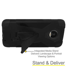 Load image into Gallery viewer, AMZER Dual Layer Shockproof Hybrid KickStand Case for Motorola Moto Z Force DROID Edition - Black