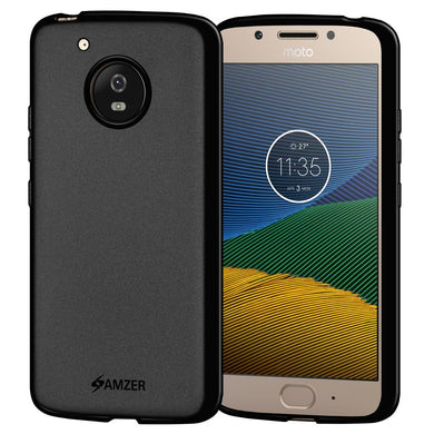 AMZER Pudding Shockproof TPU Skin Case for Motorola Moto G5 - Black