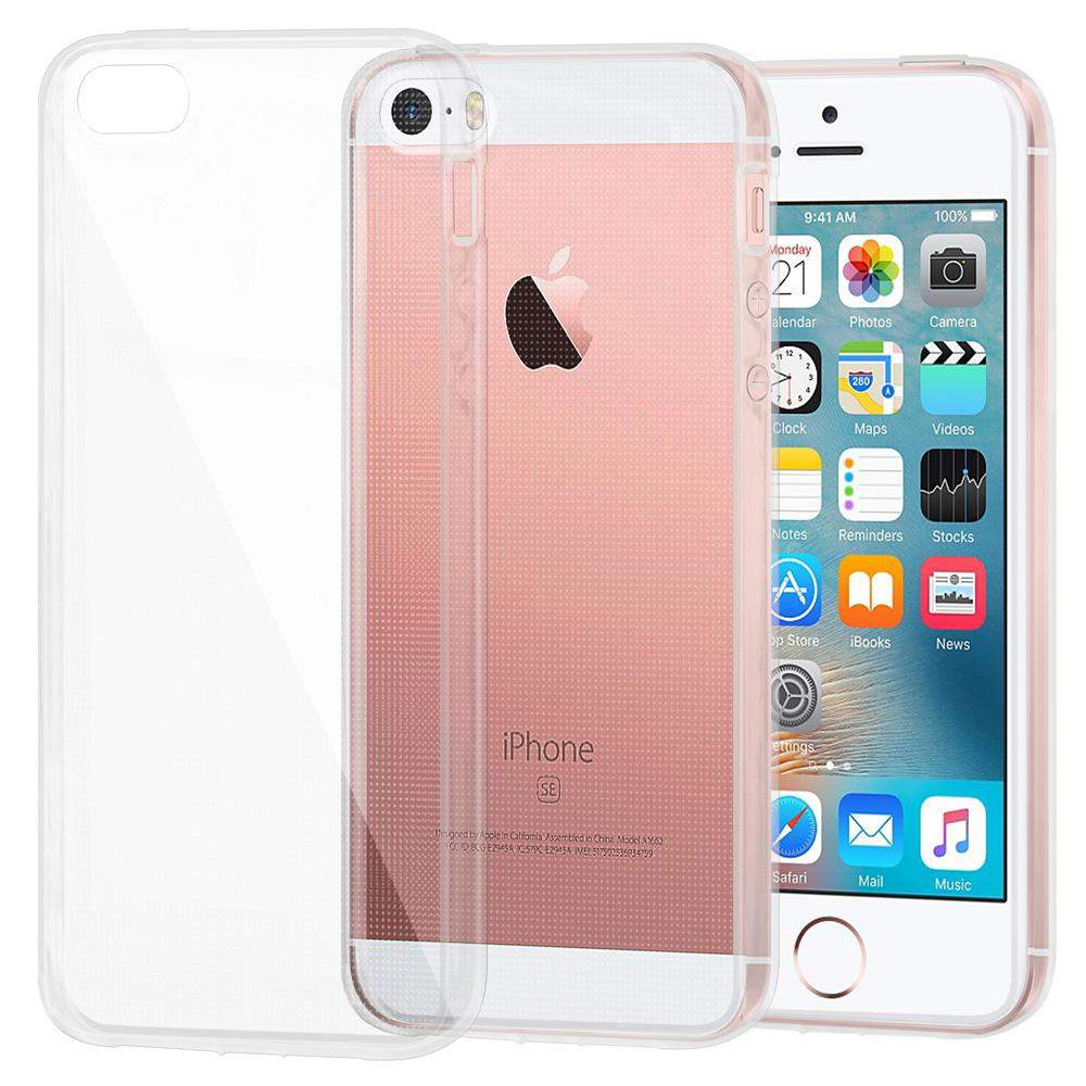 Protective Cover Soft Gel Shockproof TPU Skin Case for iPhone 5 - Clear