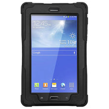 Load image into Gallery viewer, AMZER TUFFEN Shockproof Hybrid Case With Kikstand for Samsung Galaxy Tab iris SM-T116IR - Black