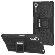 Load image into Gallery viewer, AMZER Shockproof Warrior Hybrid Case for Sony Xperia XZ- Black/Black