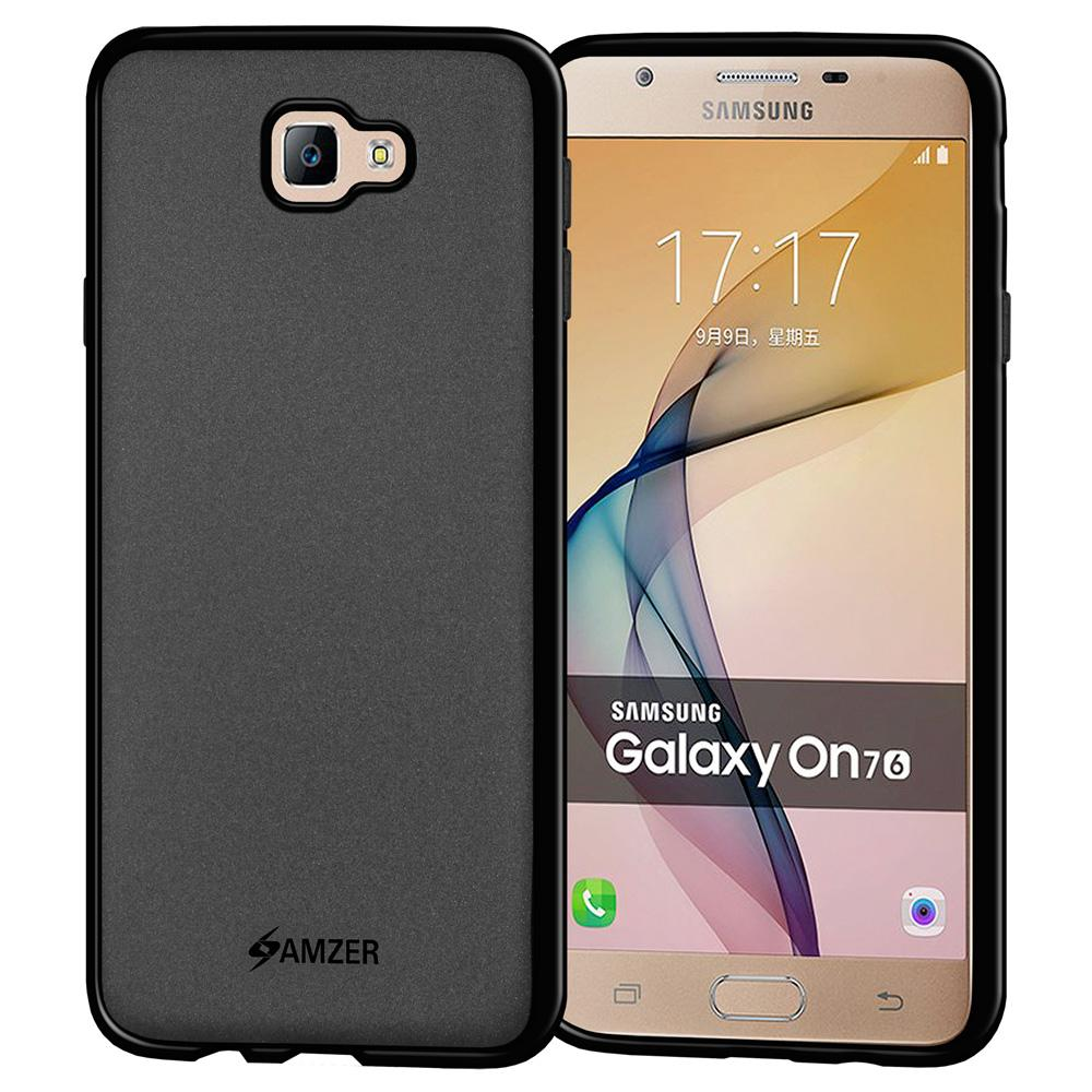 AMZER Pudding TPU Case - Black for Samsung Galaxy J7 Prime