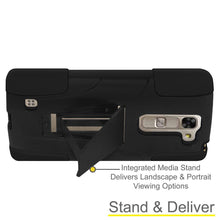 Load image into Gallery viewer, AMZER Double Layer Hybrid KickStand Case - Black/ Black for LG Magna H502F