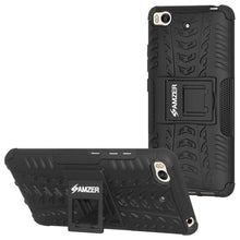 Load image into Gallery viewer, AMZER Shockproof Warrior Hybrid Case for Xiaomi Mi 5s - Black/Black