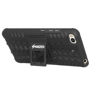 AMZER Shockproof Warrior Hybrid Case for Xiaomi Mi 5s - Black/Black