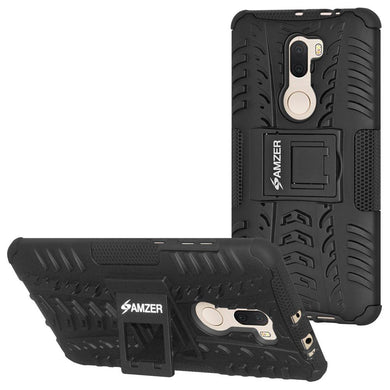 AMZER Shockproof Warrior Hybrid Case for Xiaomi Mi 5s Plus - Black/Black