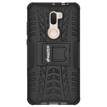 Load image into Gallery viewer, AMZER Shockproof Warrior Hybrid Case for Xiaomi Mi 5s Plus - Black/Black