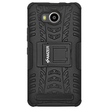 Load image into Gallery viewer, AMZER Shockproof Warrior Hybrid Case for Lenovo A7700 - Black/Black