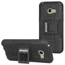 Load image into Gallery viewer, AMZER Shockproof Warrior Hybrid Case for Samsung Galaxy A3 2017 - Black/Black