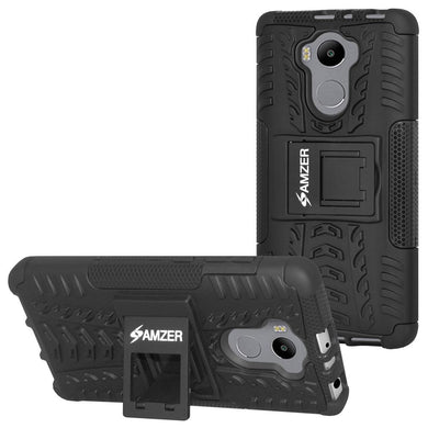 AMZER Warrior Hybrid Case for Xiaomi Redmi 4 Standard Edition - Black/Black