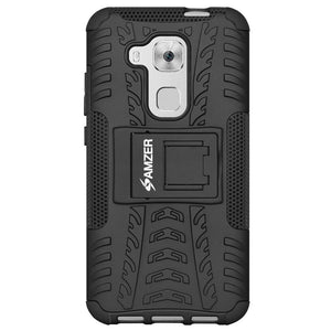AMZER Shockproof Warrior Hybrid Case for Huawei Nova Plus - Black/Black