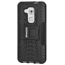 Load image into Gallery viewer, AMZER Shockproof Warrior Hybrid Case for Huawei Nova Plus - Black/Black