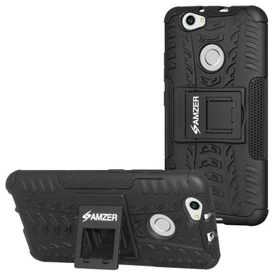 AMZER Shockproof Warrior Hybrid Case for Huawei Nova - Black/Black