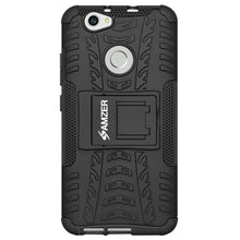 Load image into Gallery viewer, AMZER Shockproof Warrior Hybrid Case for Huawei Nova - Black/Black