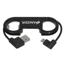 Load image into Gallery viewer, Amzer Charge and Sync MicroUSB Cable / Bottle Opener - Black