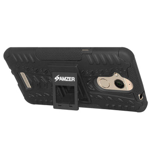 AMZER Hybrid Warrior Dual Layer Case for Coolpad Note 5 - Black/Black